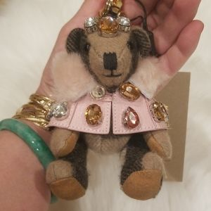 Burberry Thomas Bear With Pink Cape